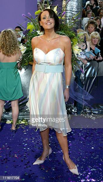 Suranne Jones during The 2005 British Soap Awards Arrivals at BBC Tv Studios in London Great Britain