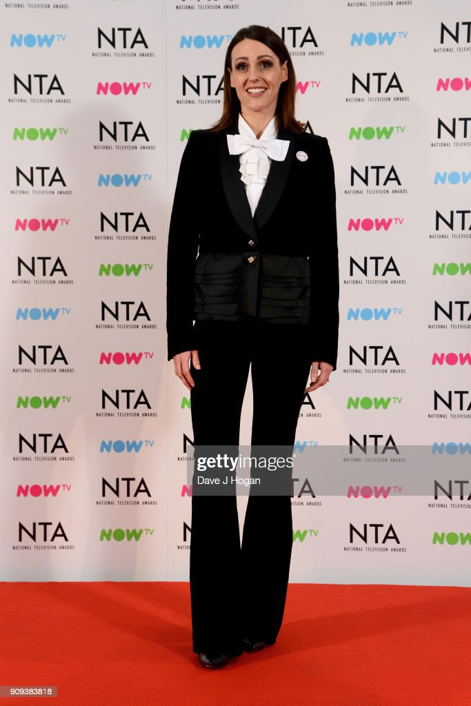 Suranne Jones from Doctor Foster with the award for Drama Programme at the National Television Awards 2018 at The O2 Arena on January 23, 2018 in London, England.