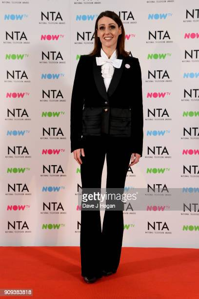 Suranne Jones from Doctor Foster with the award for Drama Programme at the National Television Awards 2018 at The O2 Arena on January 23 2018 in...