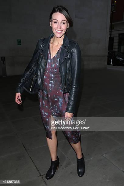 Suranne Jones seen at BBC Radio One on October 5 2015 in London England