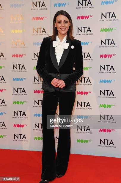 Suranne Jones winner of the Best Drama Performance award for 'Doctor Foster poses in the press room at the National Television Awards 2018 at The O2...