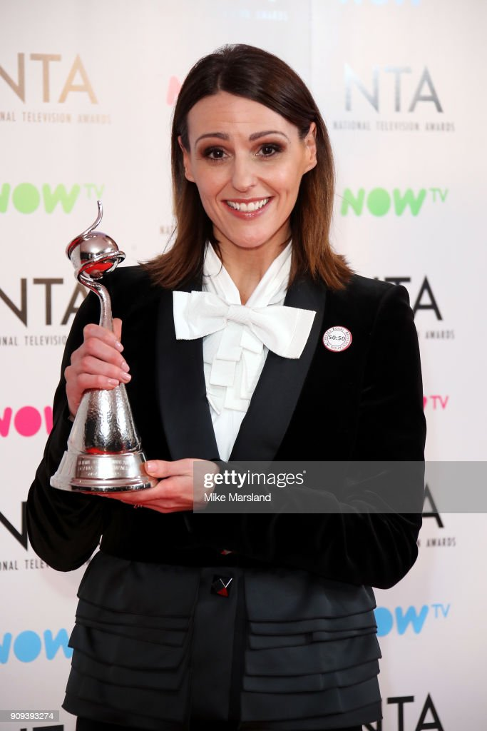 Suranne Jones, winner of the Drama Performance Award, poses in the press room at the National Television Awards 2018 at The O2 Arena on January 23, 2018 in London, England.