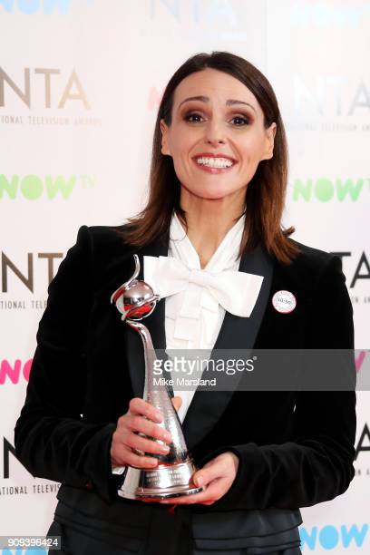 Suranne Jones winner of the Drama Performance Award poses in the press room at the National Television Awards 2018 at The O2 Arena on January 23 2018...
