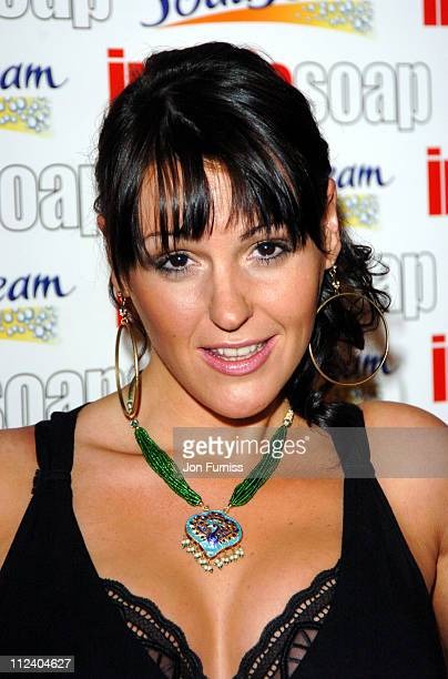 Suranne Jones winner of the Sexiest Female Award during The Inside Soap Awards 2004 Press Room at La Rascasse Cafe Grand Prix in London Great Britain