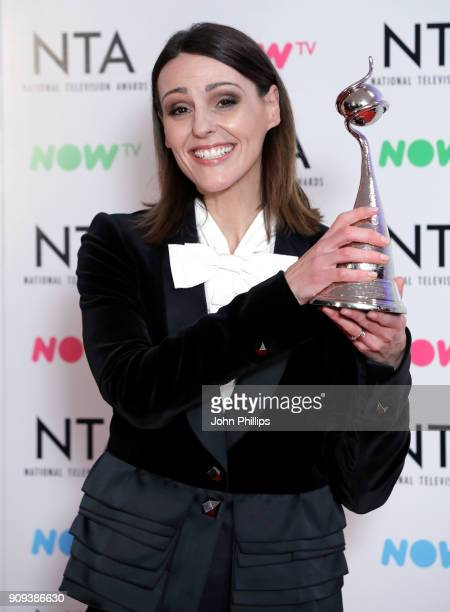 Suranne Jones with the Drama Performance award for Doctor Foster during the National Television Awards 2018 at the O2 Arena on January 23 2018 in...