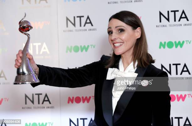 Suranne Jones with the Drama Performance award for 'Doctor Foster' during the National Television Awards 2018 at the O2 Arena on January 23 2018 in...