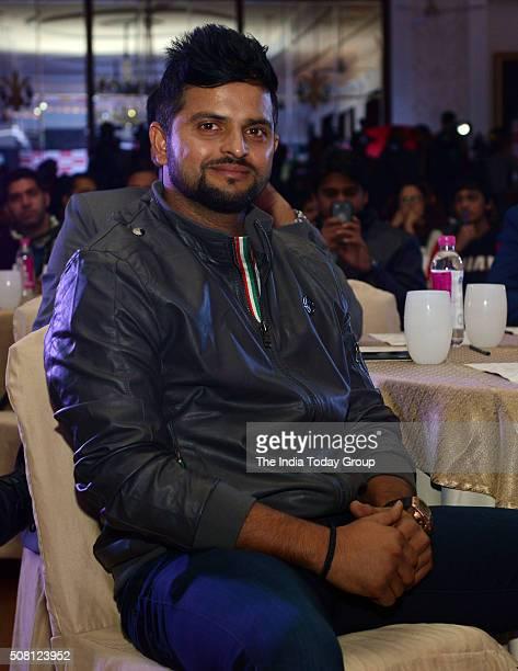 Suresh Raina at the unveiling of Gujarat Lions team logo in New Delhi