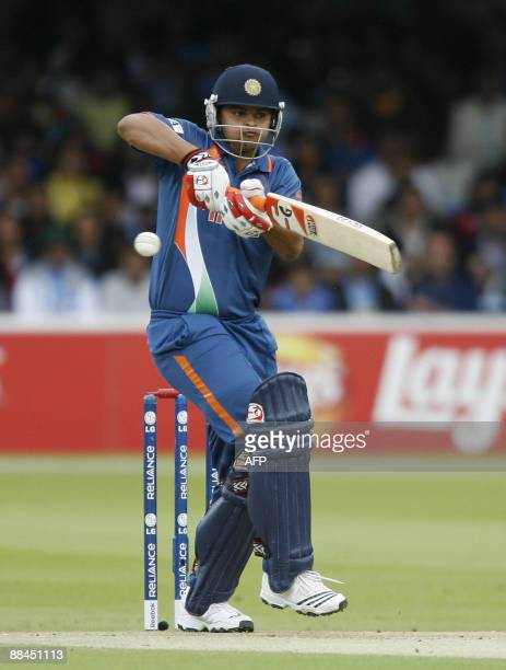Suresh Raina of IndiaWest Indies attempts to catch a ball during the Super 8 stage of the ICC World Twenty20 Cup at Lords in London on June 12 2009...