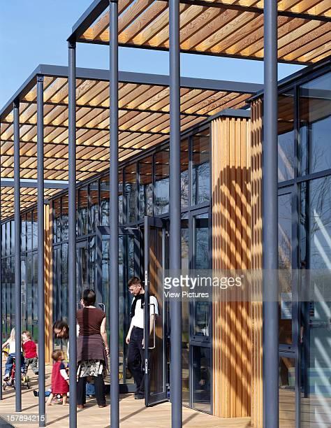 Surestart School, London, United Kingdom, Architect John Mcaslan And Partners, Surestart School Play Desk Detail With Children.