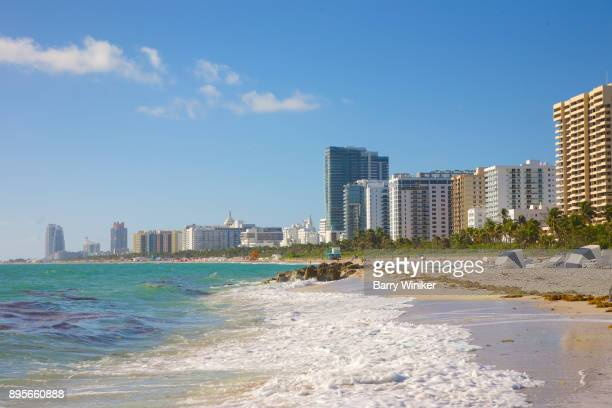 Surf and hotels of Miami Beach