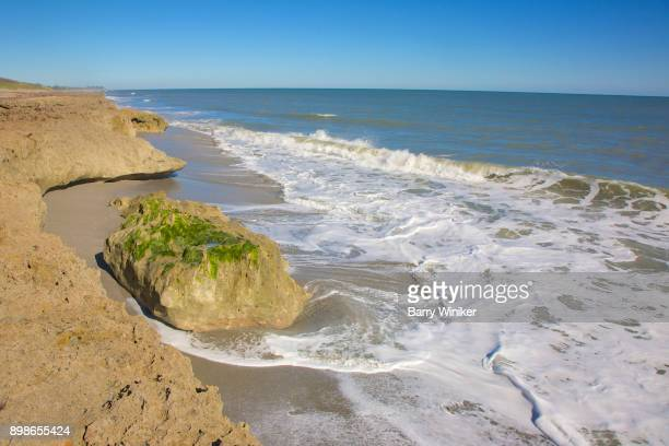 surf at blowing rocks preserve on jupiter island - jupiter island florida stock photos and pictures
