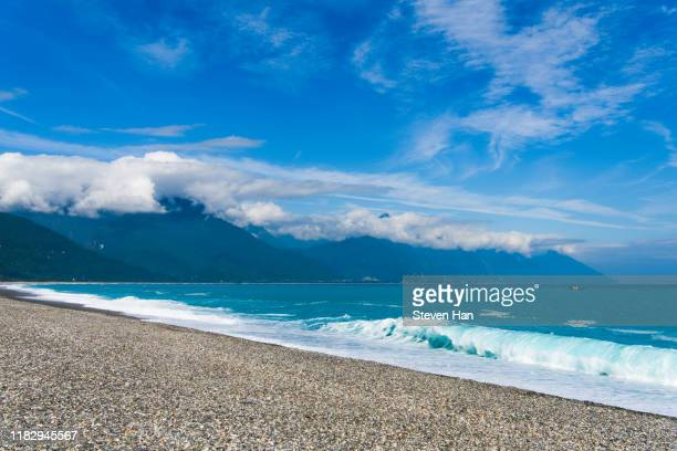 surf at hualien county - taiwan stock pictures, royalty-free photos & images