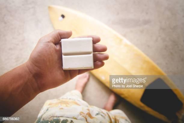 pov surf board wax - 蝋 ストックフォトと画像