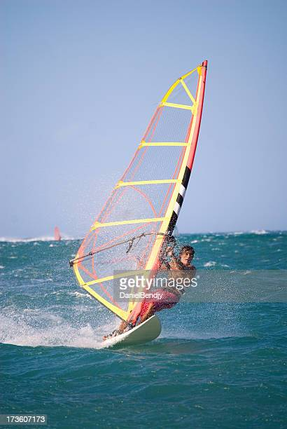 surf boy - windsurfing stock pictures, royalty-free photos & images