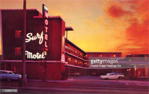 Surf Motel at Sunset