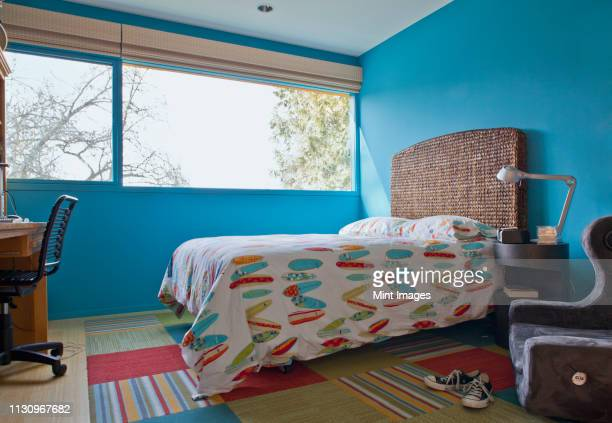 surf themed bedroom - childhood stock pictures, royalty-free photos & images