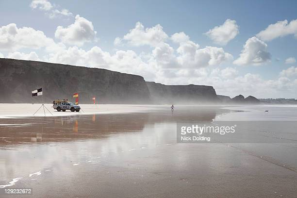 surf watch, rnli - cornish flag stock pictures, royalty-free photos & images