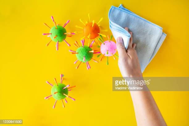 surface cleaning and disinfection cleaning - antibiotic resistant stock pictures, royalty-free photos & images