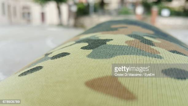Surface Level Of Nato Pattern Fabric