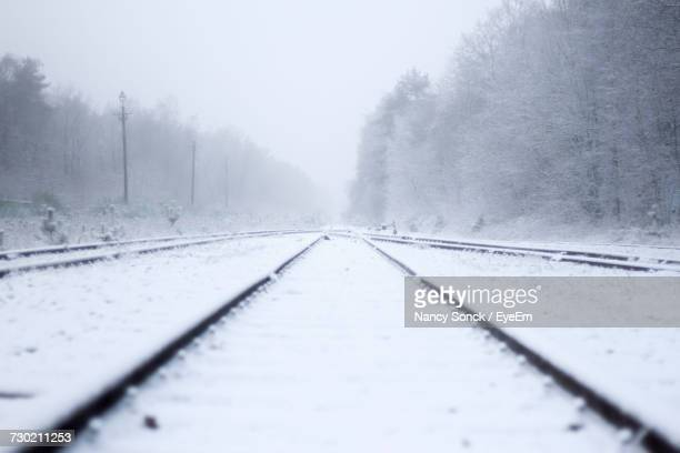 Surface Level Of Railroad Tracks During Winter
