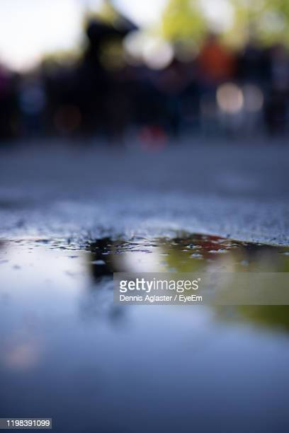 surface level of wet road in rainy season - storm dennis stock pictures, royalty-free photos & images
