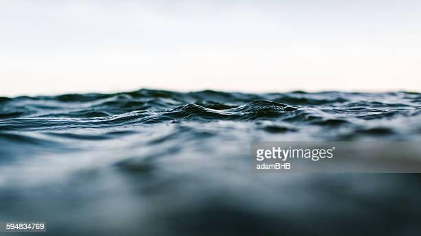 surface level view of sea - paesaggio marino foto e immagini stock
