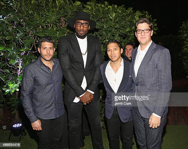 Surface Magazine CEO Marc Lotenburg Amar'e Stoudemire Robbie Antonio and Spencer Bailey attend Surface Magazine's Design Dialouges Number 23 at W...