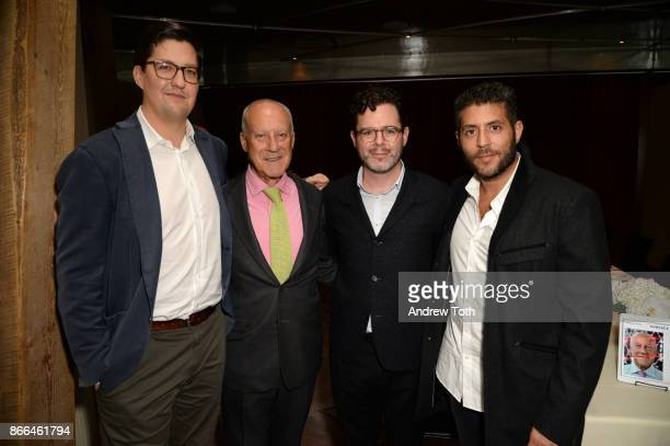 Surface Magazine Editor in Chief Spencer Bailey Architect Lord Norman Foster Digital Director of Surface Magazine Bill Hanley and CEO of Surface...