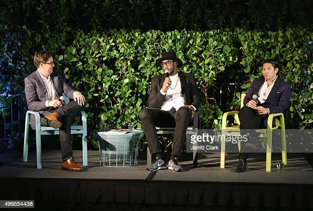 Surface Magazine Editor in Chief Spencer Bailey hosts a discussion with Amar'e Stoudemire and Robbie Antonio at Surface Magazine's Design Dialouges...