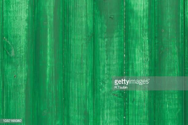 surface of an empty green wooden background - green wood stock pictures, royalty-free photos & images