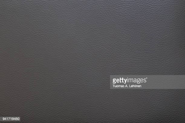 Surface of dark gray faux leather for textured background