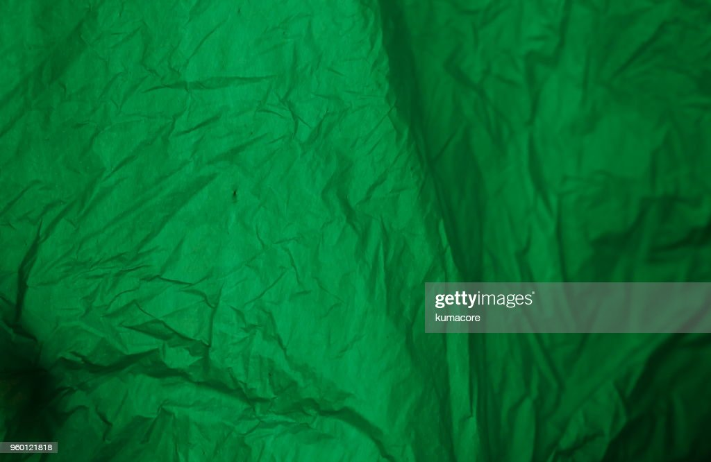 Surface of green color plastic bag, close up : Stock-Foto