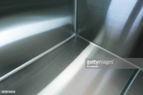 Surface of the stainless steel