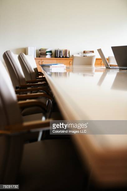Surface shot of conference table