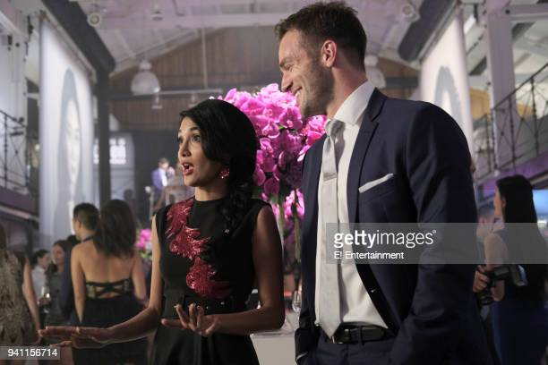 THE ARRANGEMENT 'Surface Tension' Episode 202 Pictured Hina Abdullah Andy Favreau as Logan Travers