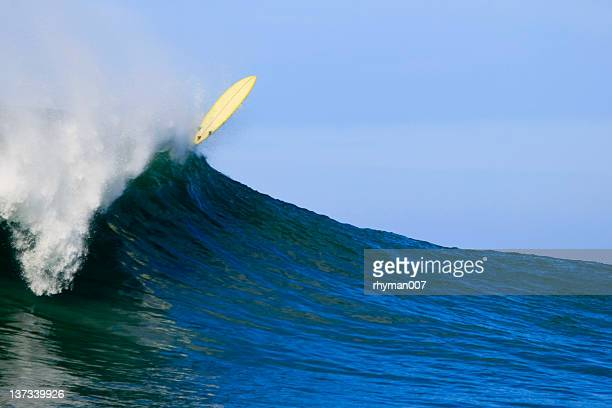 surfboard flying - big wave surfing stock pictures, royalty-free photos & images