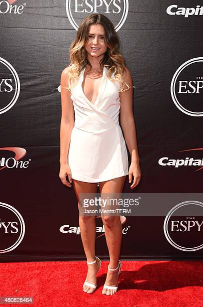 Surfer Anastasia Ashley attends The 2015 ESPYS at Microsoft Theater on July 15 2015 in Los Angeles California