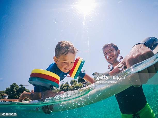 Surfista e il suo ragazzo