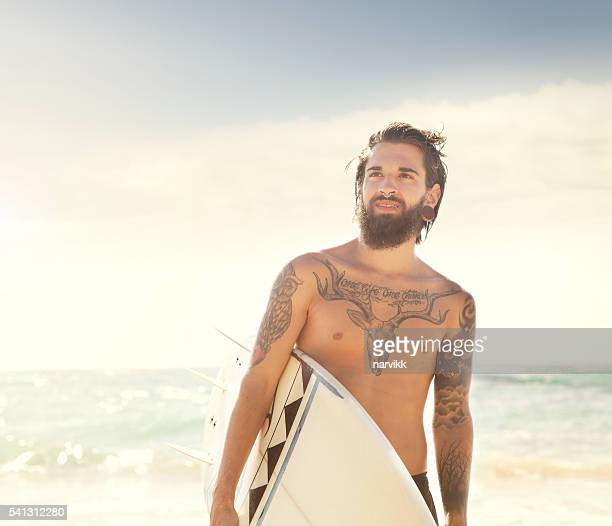 Surfer and the sea