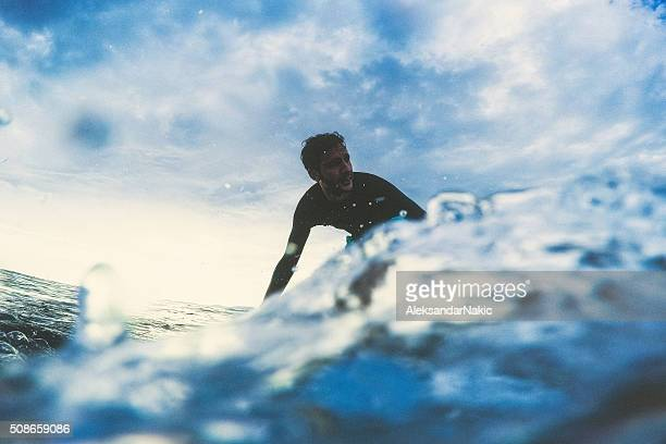 Surfer and the wave