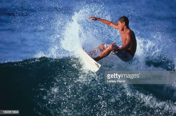 Surfer at Arpoador, Ipanema.