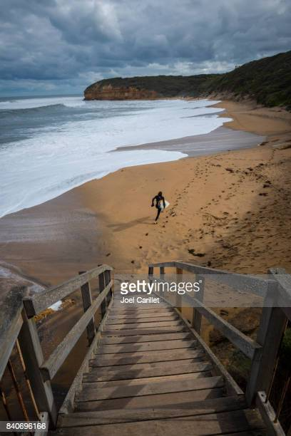 Surfer at Bells Beach, Torquay, Australia