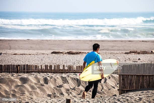 surfer at nakatajima sand dunes, hamamatsu. - shizuoka stock pictures, royalty-free photos & images