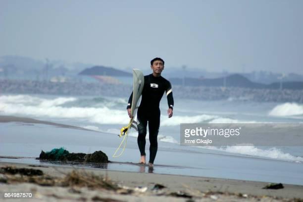 Surfer at Natori beach