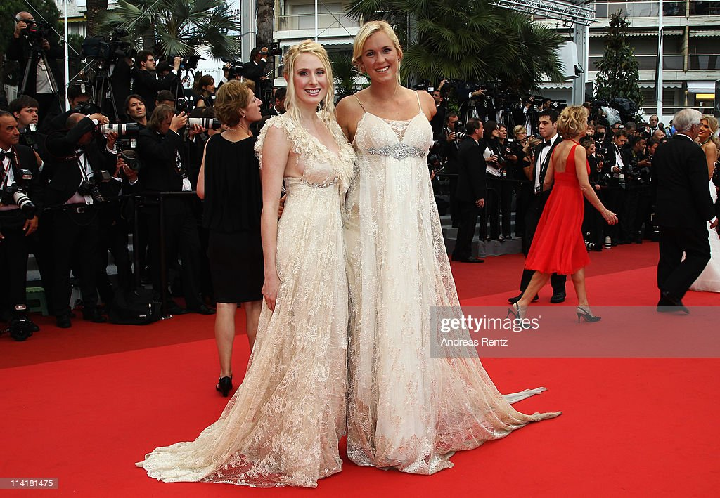 Surfer Beth Hamilton (R) attends the 'Pirates of the Caribbean: On Stranger Tides' premiere at the Palais des Festivals during the 64th Cannes Film Festival on May 14, 2011 in Cannes, France.