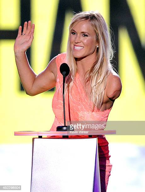 Surfer Bethany Hamilton accepts Favorite Comeback Athlete onstage during Nickelodeon Kids' Choice Sports Awards 2014 at UCLA's Pauley Pavilion on...