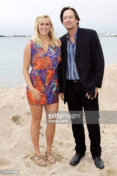 Surfer Bethany Hamilton and actor Kevin Sorbo attend the 'Soul Surfer' photocall at Nikki Beach during the 64th Cannes Film Festival on May 13 2011...