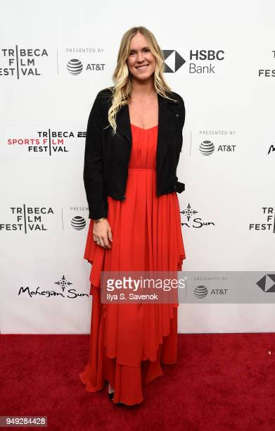 Surfer Bethany Hamilton attends Bethany Hamilton Unstoppable during 2018 Tribeca Film Festival at SVA Theatre on April 20 2018 in New York City