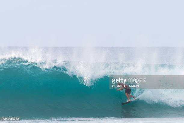 1e4105415d US surfer Conner Coffin takes part in the second day of competition of the 2016  Billabong