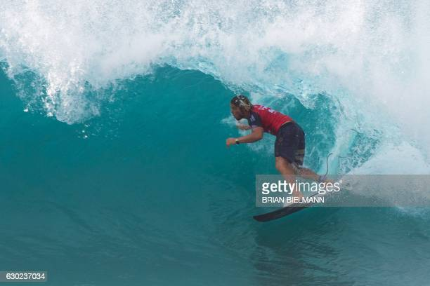 d4e9e134d7 US surfer Conner Coffin takes part in the second day of competition... News  Photo